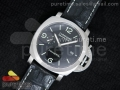 PAM312 P 1:1 ZF Best Edition on Genuine Black Croco Leather Strap P9000