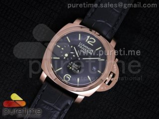 PAM289 L RG Lite on Black Leather Strap A23J