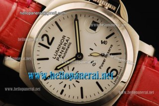 Panerai Luminor Power Reserve Pam 090 Automatic SS/Red LE Watch