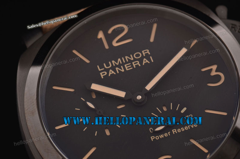 Panerai PAM090 Luminour Power Reserve PVD Case Black Dial A-ST25