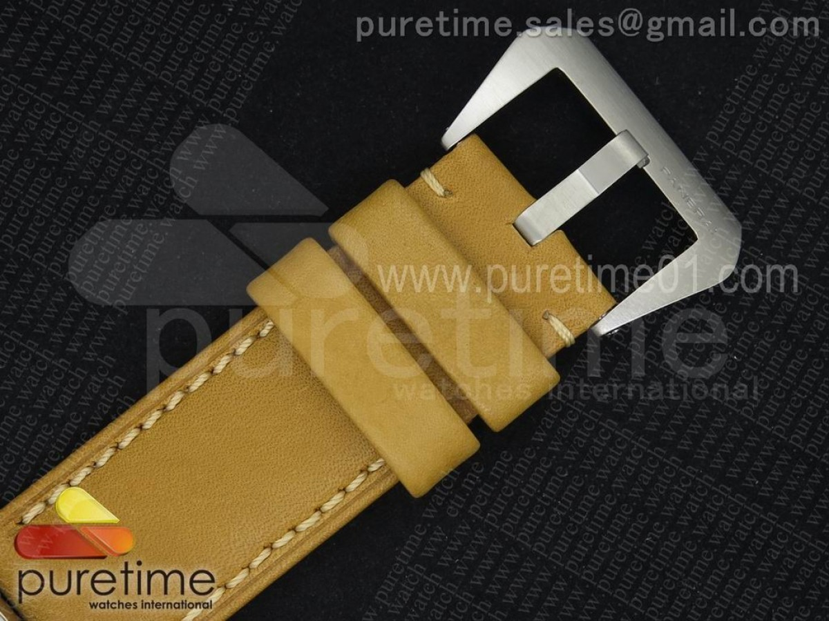 PAM127 E V6F 1:1 Best Edition on Brown Leather Strap A6497 with Y-Incabloc V2