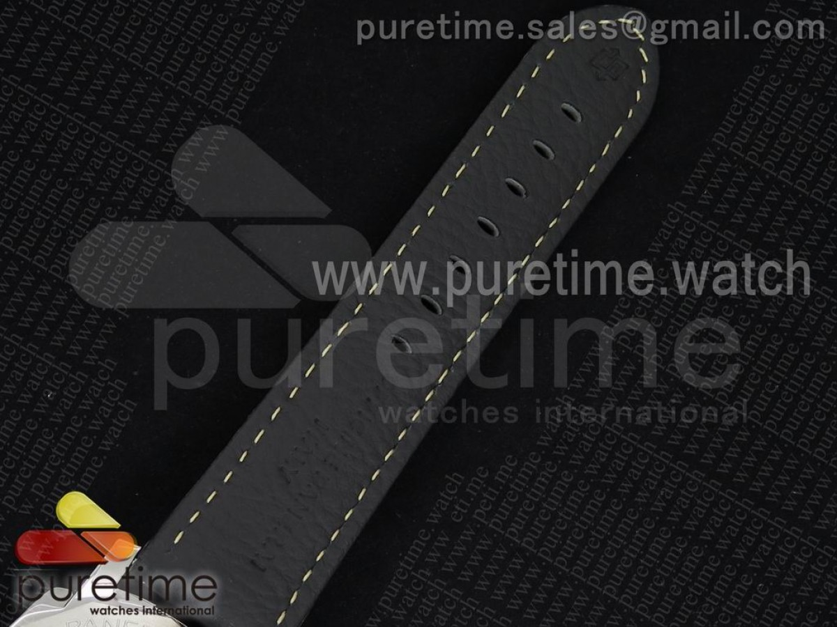 PAM359 Q JF 1:1 Best Edition on Black Leather Strap P9000 Clone