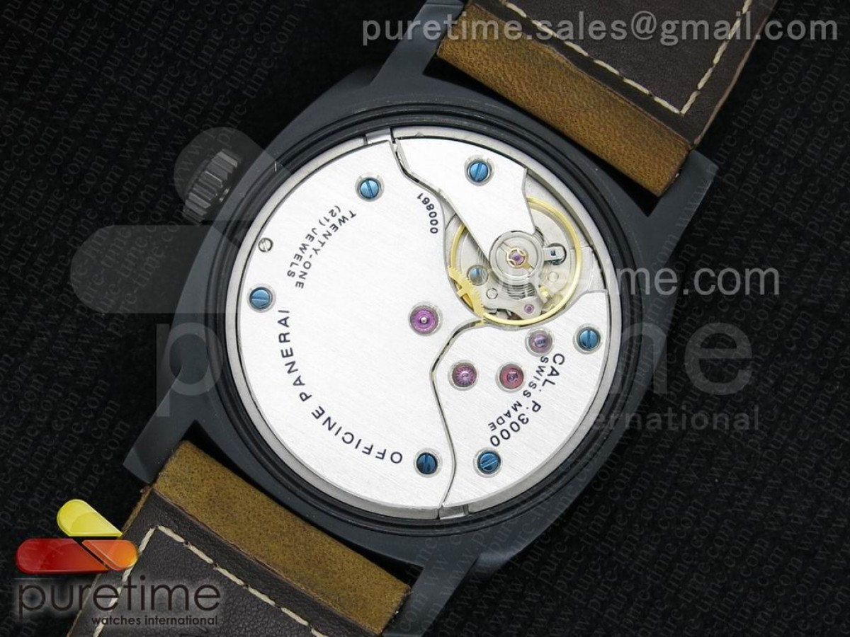 PAM532 P Radiomir 1940 3 DAYS V6F PANERISTI FOREVER Black Dial on Brown Asso Strap P3000