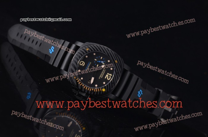 Panerai Luminor Submersible 1950 Carbotech 3 Days Automatic PAM 616 Black Dial Black Rubber PVD Watch