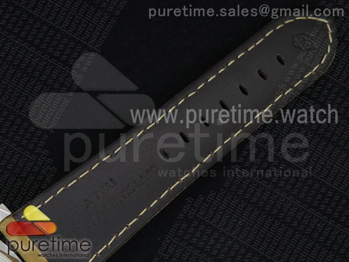 PAM422 P SF 1:1 Best Edition on Brown Asso Leather Strap P.3001 Super Clone