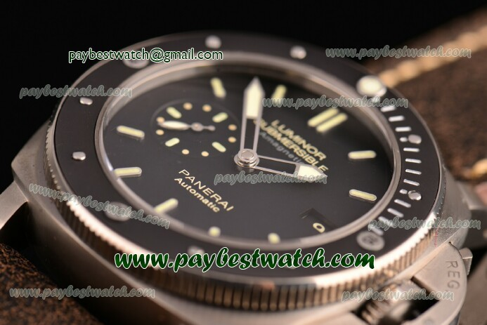 Panerai Luminor Submersible 1:1 Original PAM 389 Black Dial Titanium Watch (Z)