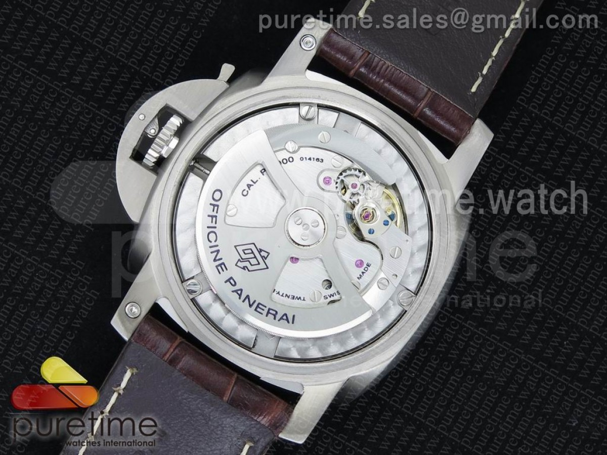 PAM351 Q V6F 1:1 Best Edition on Brown Leather Strap P9000