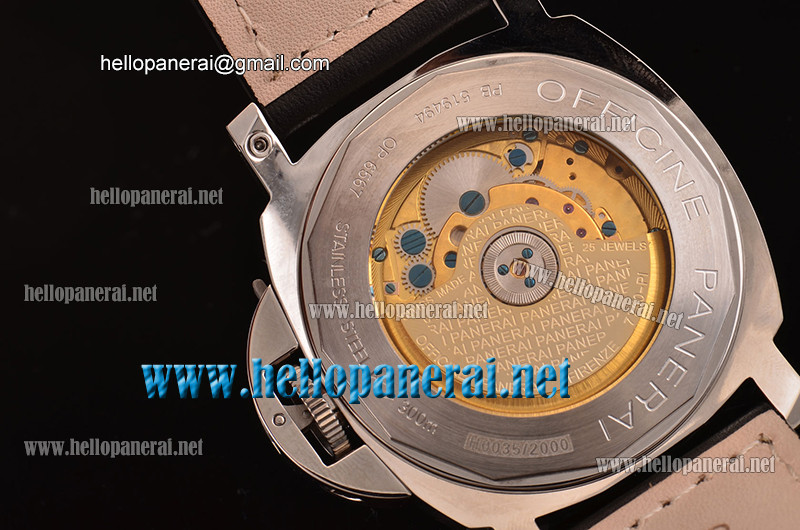 Panerai PAM090 Luminor Power Reserve SS Black A-ST22 Ref.PAM00090