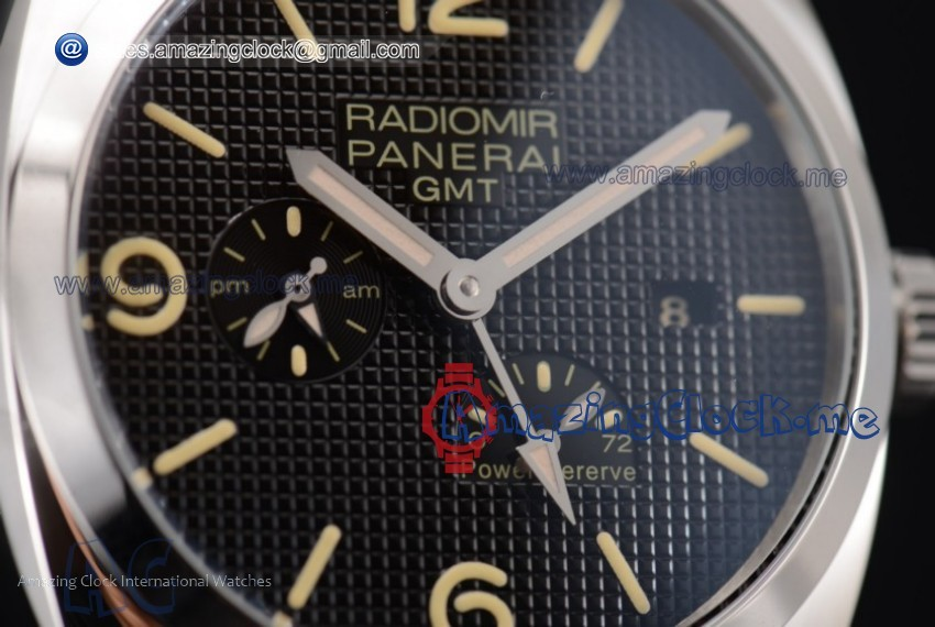 Radiomir 1940 3 Days GMT Power Reserve SS Black Dial - AST25