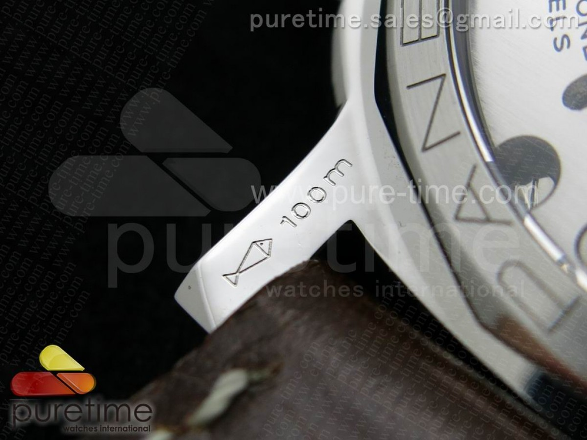 PAM372 O 1:1 ZF Best Edition on Thick Brown Leather Strap P.3000 Super Clone