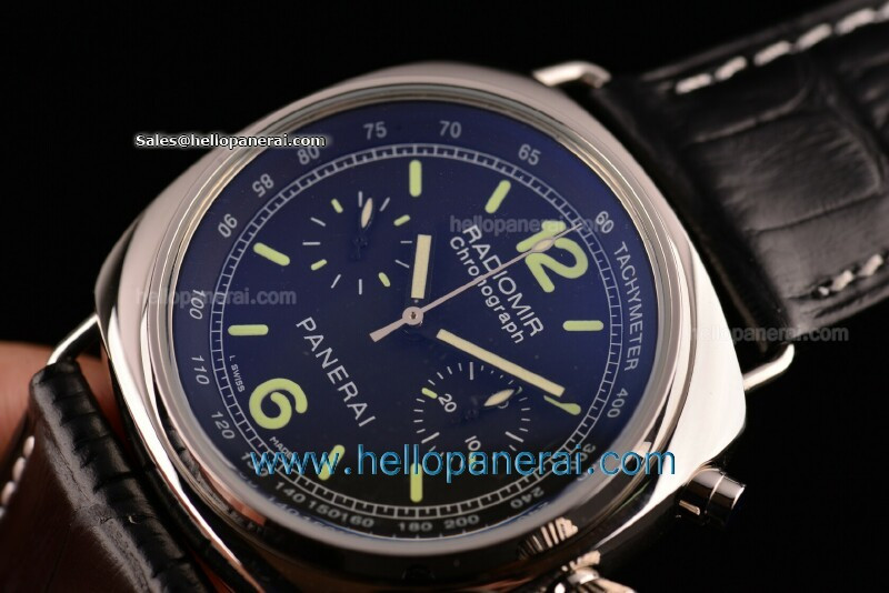 Panerai Radiomir Chrono PAM 00288 Asia 7750 Sec@9 $318 top replica watches