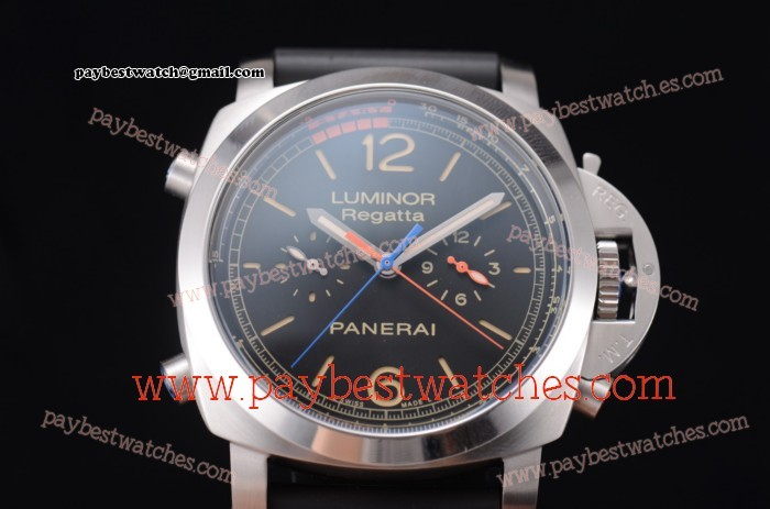 Panerai Luminor 1950 Regatta 3 Days Chrono Flyback Titanio PAM 526 Black Dial Black Rubber Steel Watch