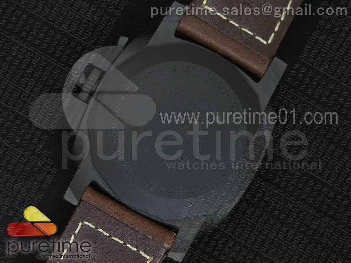PAM661 Carbotech V6F Best Edition on Brown Leather Strap P9010