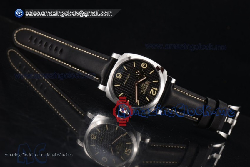 Radiomir 1940 3 Days GMT Automatic SS Black Dial - AST25